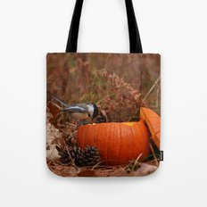 A Chickadee Thanksgiving Tote Bag