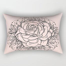 Night Rose Rectangular Pillow