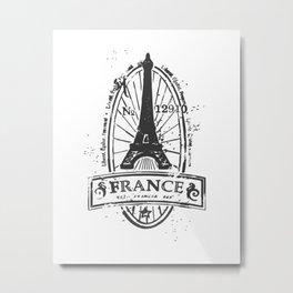 France Stamp Metal Print