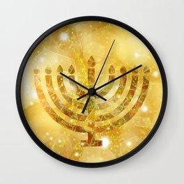 Hanukkah, the Festival of Lights Wall Clock