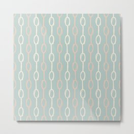 Girly Dot Stripe 3 Metal Print
