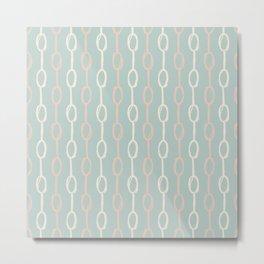 Girly Dot Stripe 3 Metal Print