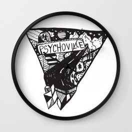 Psychoville black ink drawing Wall Clock