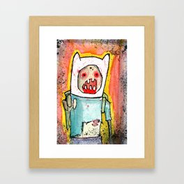 Finn the Zombie Framed Art Print
