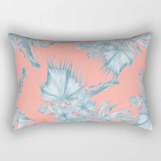Dreaming Of Hawaii Pale Teal Blue On Coral Pink