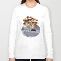 psychadelic Long Sleeve T-shirts featuring Alice in Wonderland by Blaz Rojs