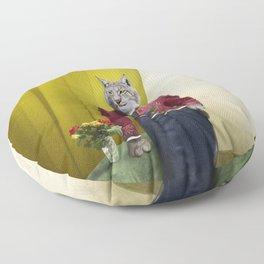 Portrait of Sir Linus Lynx Floor Pillow
