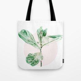 Fiddle leaf - pink pot Tote Bag