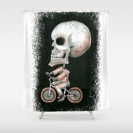 Cycle Skully Shower Curtain