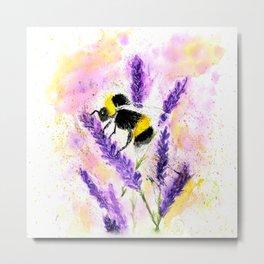 Buzzing Bumblebee Metal Print
