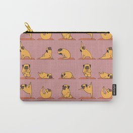 Pug Yoga In Pink Carry-All Pouch