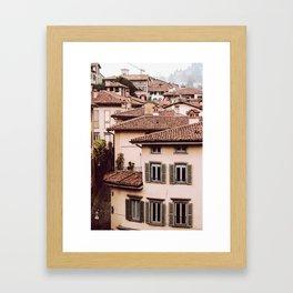 Bergamo rooftops - vertical Framed Art Print