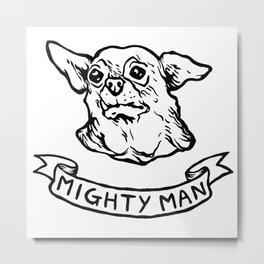 Mighty Man Metal Print