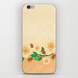Abstract roses background iPhone Skin