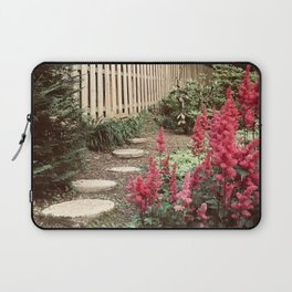 Tall Red Flowers & Path Laptop Sleeve