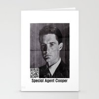 dale cooper Stationery Cards featuring Missing Dale Cooper ... 2016 by Allelujah
