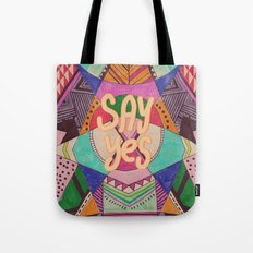 SAY YES Abstract 90's rave pattern Tote Bag