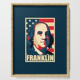 Benjamin Franklin America Pop Art Serving Tray