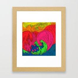 Neon Swirl Framed Art Print