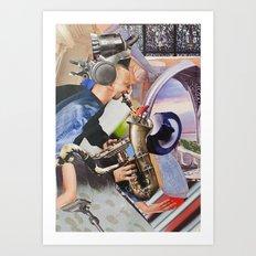 Musician Series. Sax Art Print
