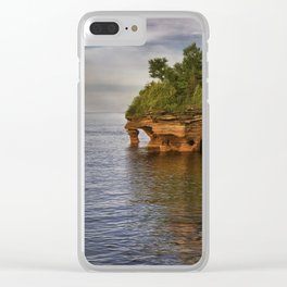 Apostle Islands Sea Caves Clear iPhone Case