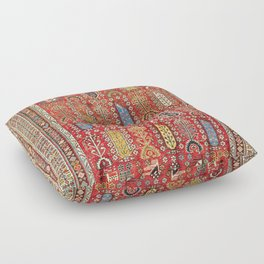 Shirvan Caucasian Antique Carpet Print Floor Pillow
