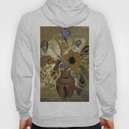 """Odilon Redon """"Etruscan Vase with Flowers"""" Hoody"""