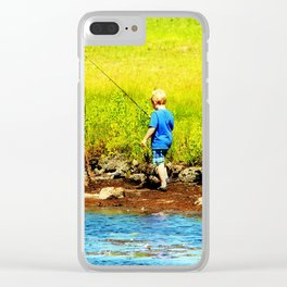 Young Fisherman Clear iPhone Case