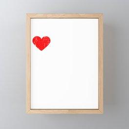 Heart Communism | Love Communism Framed Mini Art Print