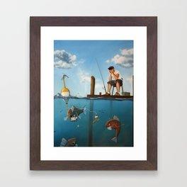 The Activities Below Framed Art Print