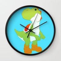 yoshi Wall Clocks featuring Yoshi by bloozen