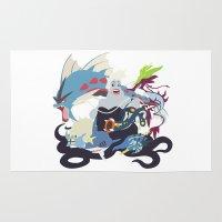 ursula Area & Throw Rugs featuring Team Ursula by Citron Vert