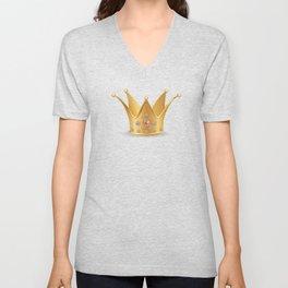 Golden crown Unisex V-Neck
