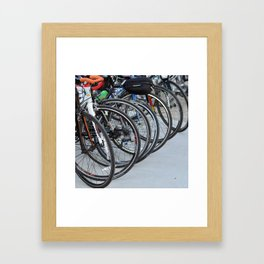 Bicycle Wheels Framed Art Print