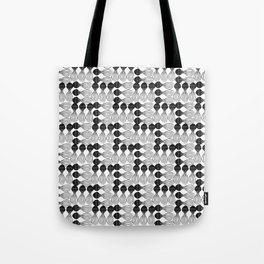 Black pear curvy funny shaped lines pattern Tote Bag