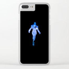 Super Heros Glitter Art - 5 Clear iPhone Case