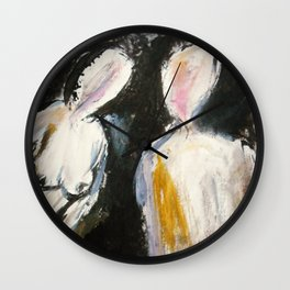 Expressionism Figure Study Wall Clock