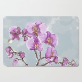 Watercolor Orchids Cutting Board