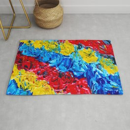 Primary Color Abstract Rug