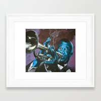 louis armstrong Framed Art Prints featuring Louis Armstrong by Boaz