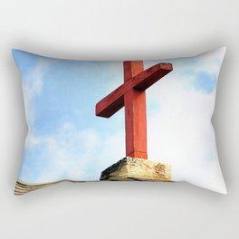 Cross Church Roof Rectangular Pillow
