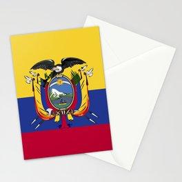 Ecuador flag emblem Stationery Cards