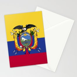 Ecuador flag emblem Stationery Cards