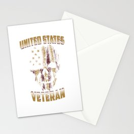 United States Veteran For Military Soldier Patriots Stationery Cards