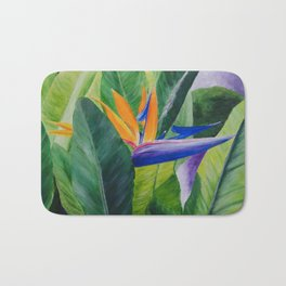 Bird of Paradise Painting by Teresa Thompson Bath Mat