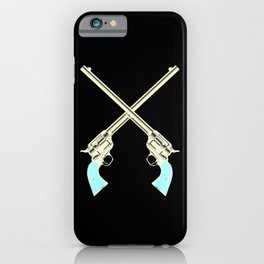 Crossed Guns Pair iPhone Case