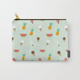 Summer Pattern cute ice creams, watermelon & pineapples Carry-All Pouch