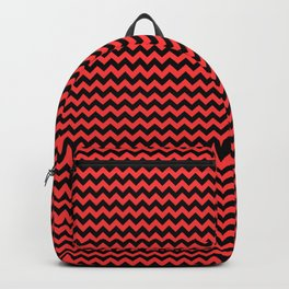 Donated Kidney Pink and Black Halloween Chevron Zig Zag Stripes Backpack