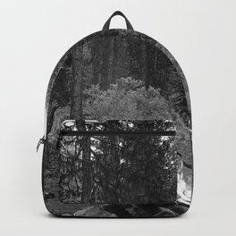 Backpacking Camp Fire B&W Backpack