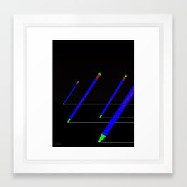 the pencil race 4000 Framed Art Print